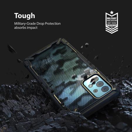 Ringke Fusion X Samsung Galaxy A52 Tough Case - Camo Black