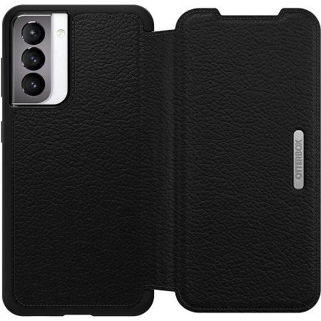 OtterBox Strada Series Samsung Galaxy S21 Wallet Case - Black