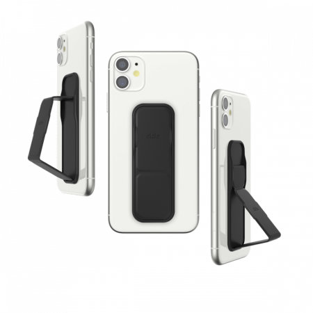 Clckr Universal Studio Smartphone PU Leather Grip & Kickstand - Black