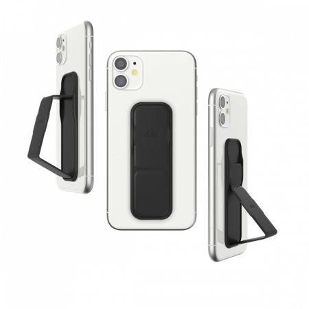 Clckr Universal Studio Smartphone PU Leather Grip & Kickstand - Black