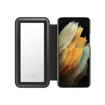 Ted Baker Elderflower Samsung Galaxy S21 Folio Case - Black / Silver
