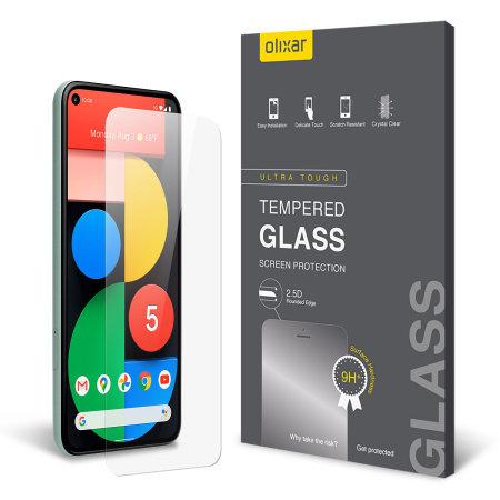 Olixar Google Pixel 5 Glass Screen Protector & 2 Pack Camera Protector