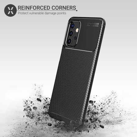 Olixar Carbon Fibre Samsung Galaxy A32 Case - Black