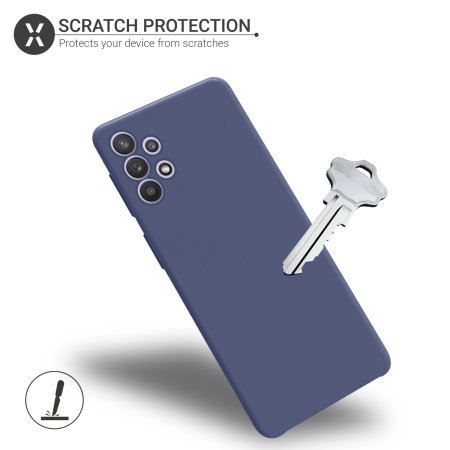 Olixar Soft Silicone Samsung Galaxy A32 Case - Midnight Blue