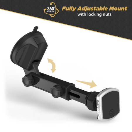 Scosche MagicMount Pro Extendo Window / Dash Magnetic Car Mount -Black