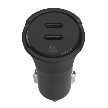 Scosche 40W Dual Fast Charging USB-C PD Car Charger - Black