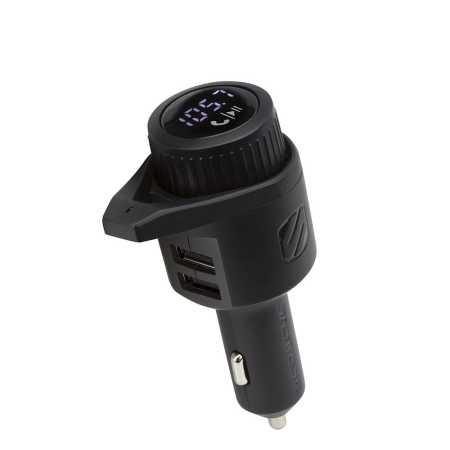Scosche BTFreq Wireless FM Transmitter W/ 2 USB Charging Ports - Black