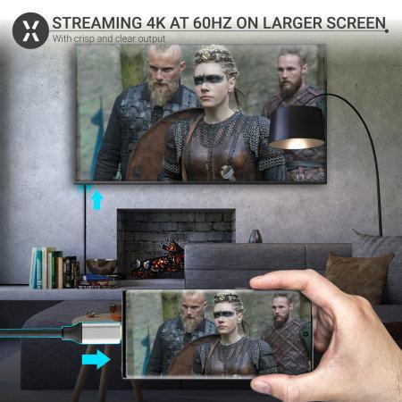 Olixar OnePlus 9 Pro USB-C To HDMI 4K 60Hz Adapter - Grey