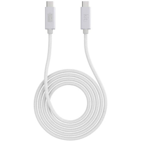 Kit Charge And Sync USB-C To C Cable - 1m - Silver