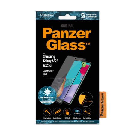 PanzerGlass Samsung Galaxy A52 Glass Screen Protector - Black
