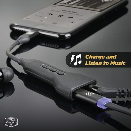 Scosche Lightning to 3.5mm Audio Adapter W/ Pass-Through Charging