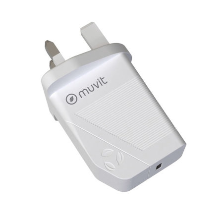 Muvit For Change Eco-Friendly 18W USB-C UK Wall Adapter - White