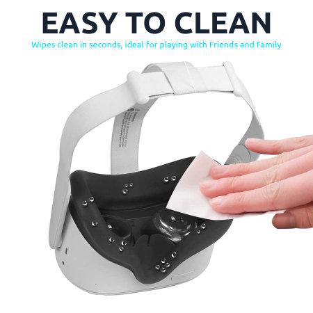 Olixar Oculus Quest 2 Silicone VR Face Cover - Black
