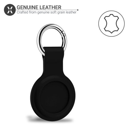 Olixar Apple AirTags Silicone Protective Keyring 2 Pack - Black