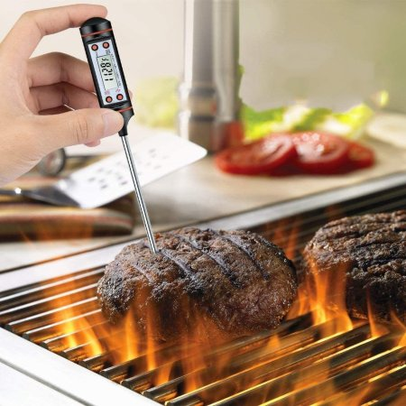 Electronic Instant Read Digital Kitchen Thermometer for Food and Drink