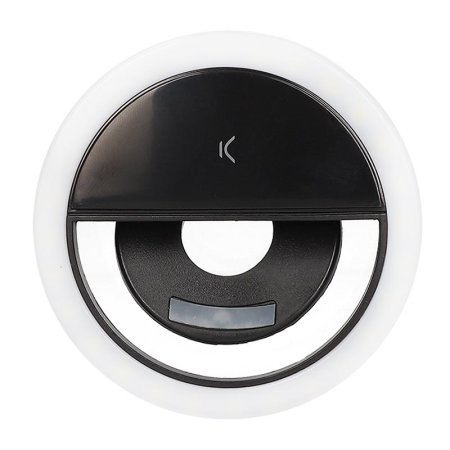 Ksix Studio Live Pocket Ring Light With Stand - Black