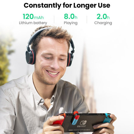 UGreen Nintendo Switch 3.5mm Bluetooth Transmitter - Red / Blue