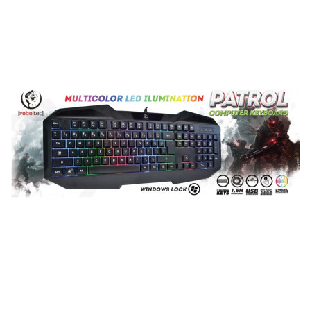 Rebeltec Patrol Wired Gaming Keyboard With Backlight - Black
