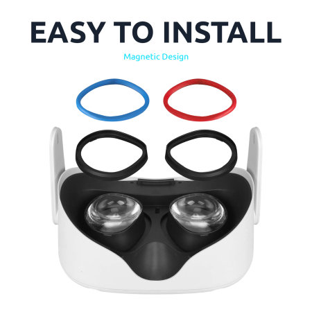 Olixar Anti-Scratch Lens Rings For Oculus Quest 2 VR Headset - 8 Pack