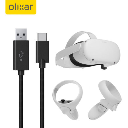 Olixar USB-C Charging Cable For VR Headsets - Black - 1m
