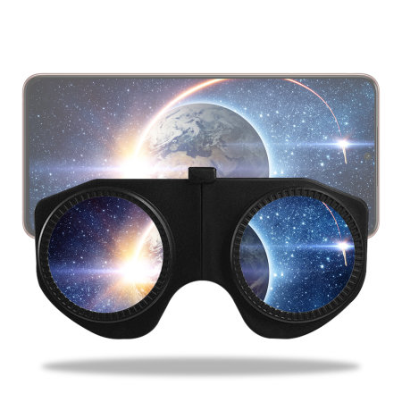 Bitmore Foldable Virtual Reality Eye Snap Glasses for Smartphones