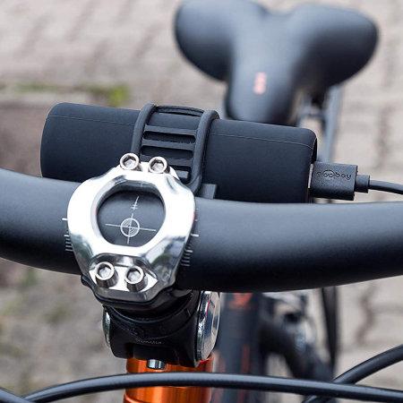 Goobay USB 5000 mAh Bike Frame Power Bank & Flashlight - Black