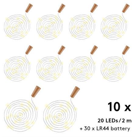 Goobay Atmospheric LED Bottle String Lights - 10 Pack