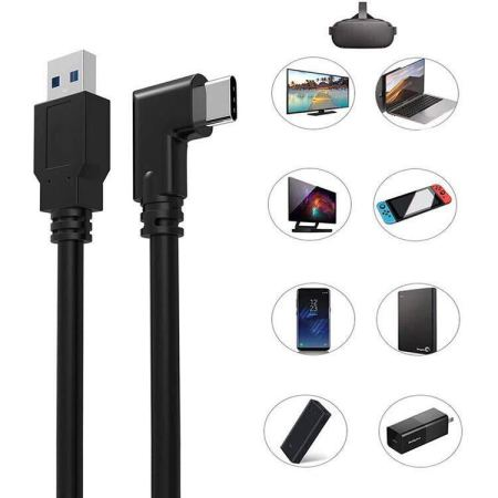 Olixar Oculus Quest 2 Link Right Angled USB-C Cable - 3m - Black