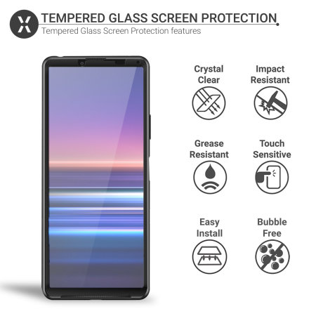 Olixar Sony Xperia 10 III Full Cover Tempered Glass Screen Protector