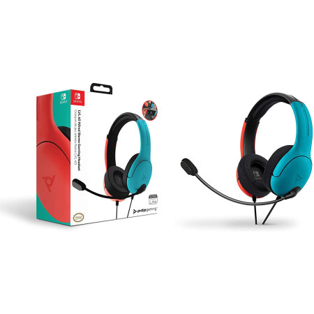 PDP LVL40 Nintendo Switch LVL40 Wired Headset - Blue/Red