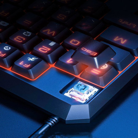 Baseus One-handed Gaming Keyboard With LED Lights - Black