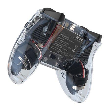 Baseus Motion Sensing Vibrating Transparent Wireless Gamepad - Black