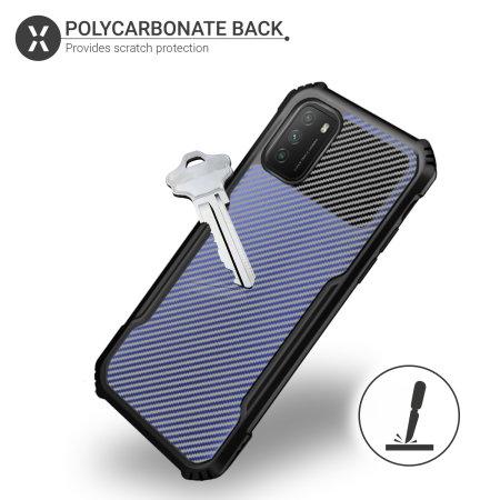 Olixar Exoshield Carbon Fibre Xioami Redmi Note 10 Pro Case - Black