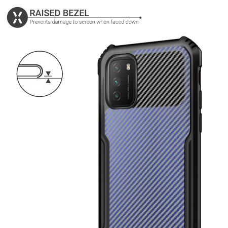 Olixar Exoshield Carbon Fibre Xiaomi Redmi Note 10 Pro Max Case -Black