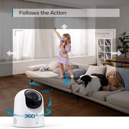 Eufy Indoor Day & Night Motion Sensing Security Cam W/ 2k Pan & Tilt