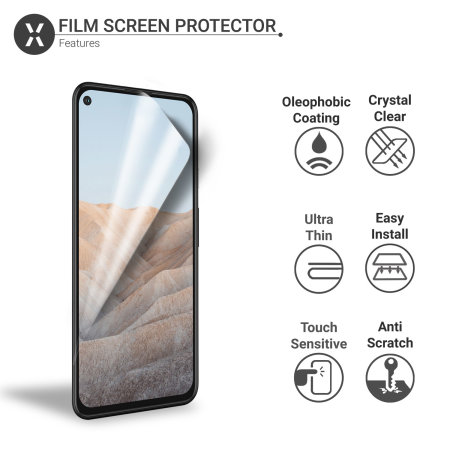 Olixar Google Pixel 5a Film Screen Protectors - Two Pack