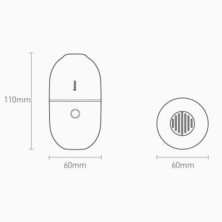 Baseus C2 Cordless Ultra-Quiet Mini Desktop Vacuum Cleaner - Black