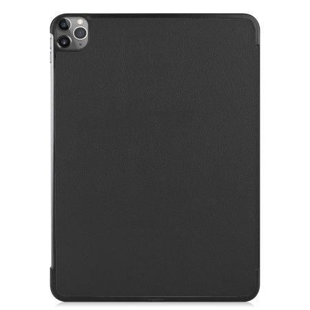"Olixar Leather-style iPad Pro 12.9"" 2020 4th Gen. Folio Case - Black"