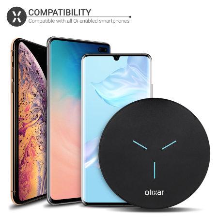 Olixar Slim 15W Wireless Fast-Charging Pad - Black