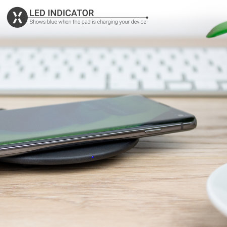 Olixar Slim 15W Wireless Fast-Charging Pad - Black