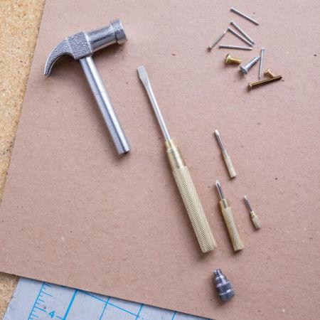 Kikkerland Handy Maintenance DIY 5 in 1 Hammer Multi Tool