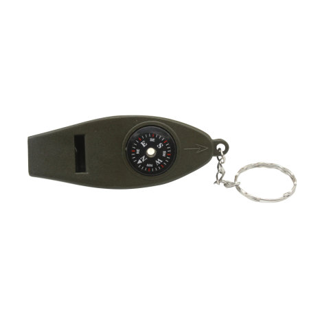 4-in-1 Multitool Keyring - Whistle, Compass, Magnifier & Thermometer