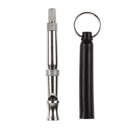 Ultrasonic Adjustable Sound Whistle for Puppy Pet Training - Black