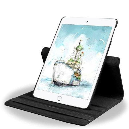 "iPad Air 2 9.7"" 2014 2nd Gen. 360° Rotation Stand Flip Case - Black"