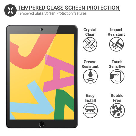 "Olixar iPad 10.2"" 2020 8th Gen. Tempered Glass Screen Protector"
