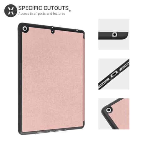 """Olixar iPad 10.2"""" 2020 8th Gen. Folio Smart Case - Rose Gold"""