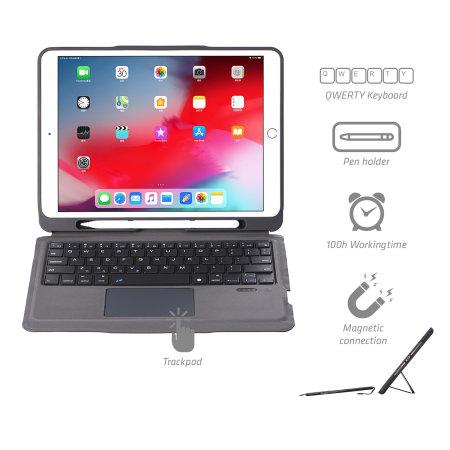 """4Smarts iPad 10.2"""" 2020 8th Gen. Case & QWERTY Trackpad Keyboard"""