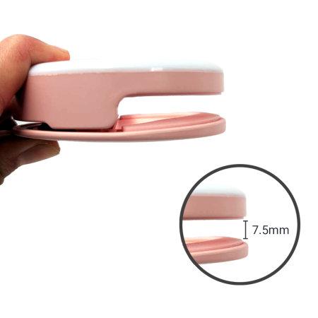 Olixar Smartphone Clip On Selfie Ring LED Light - Pink