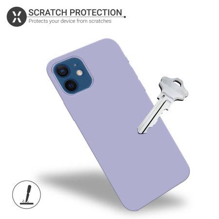 Olixar Soft Silicone iPhone 12 Case - Purple