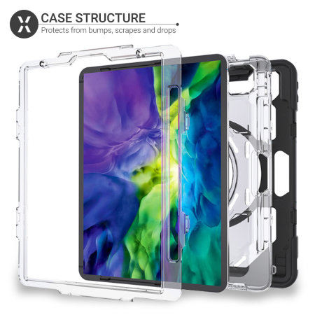 "Olixar iPad Pro 11"" 2020 2nd Gen. Tough Armour Case - Clear Black"